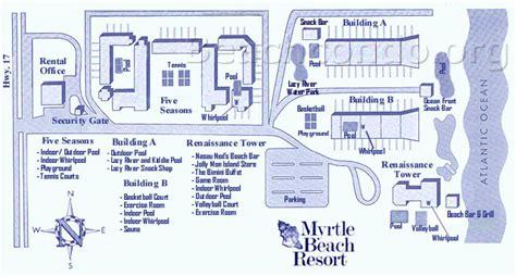 hotel breakers layout myrtle beach resort map