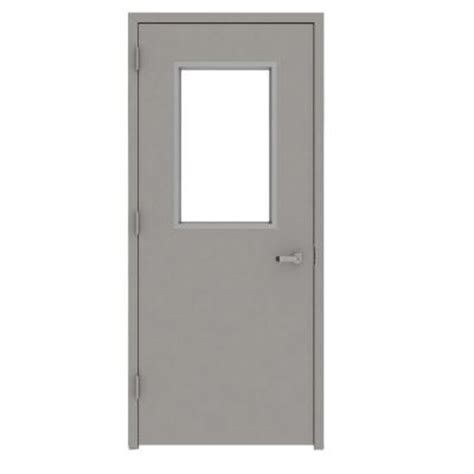 Commercial Door And Frame by L I F Industries 36 In X 80 In Gray Vision 1 2 Lite