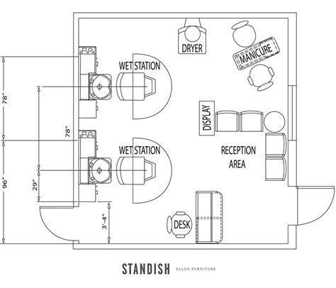 Hair Salon Floor Plans by 5 Amazing Salon Floor Plan Designs