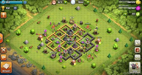 clash of clans town hall 6 setups th6 setups clockwork6 farming base for town hall 6 clash of clans land