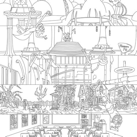 rick and morty coloring book for adults version 2 reloaded books printable rick and morty coloring pages