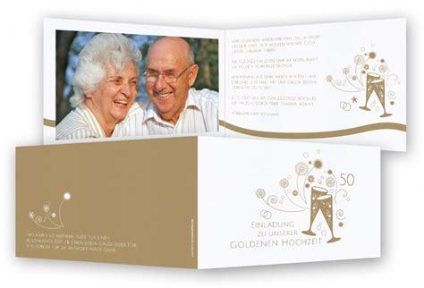 Einladung Zur Goldenen Hochzeit by Einladung Goldene Hochzeit Feinekarten