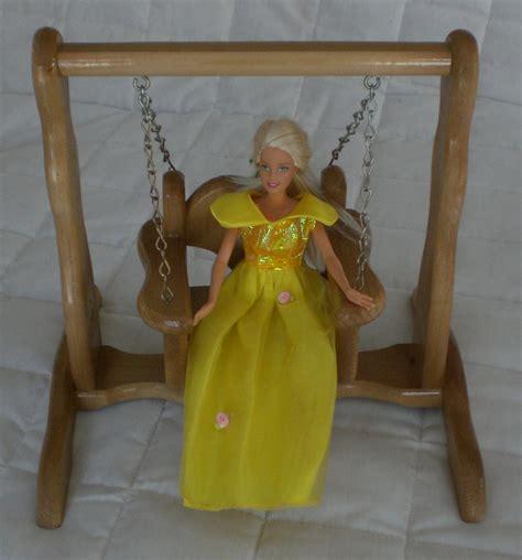 barbie swing unique handmade doll swing