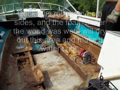 how to repair a rotted boat floor new rotten floor replacement 0001 wmv youtube