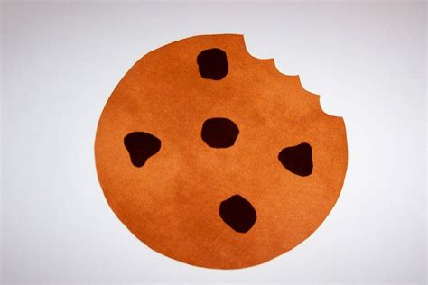 cookie template fabric applique template only chocolate chip cookie by etsykim