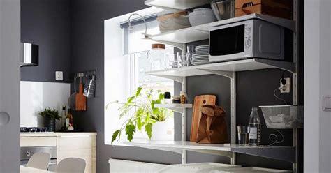 Ikea Variera Set Rak Besi Kecil Rak Besi Putih Rak Sisipan Serbaguna 1 tips dapur rumah kecil agar tetap bagus dan nyaman hock