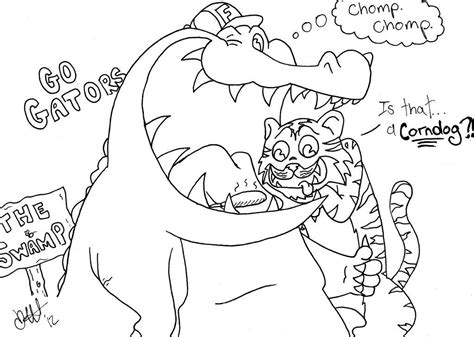 florida alligator coloring page florida gator coloring pages coloring home