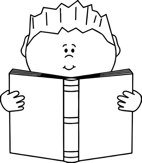 read colored read a book boy coloring page wecoloringpage