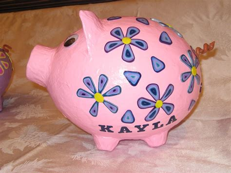 How To Make Paper Mache Piggy Bank - s paper mache piggy bank school stuff
