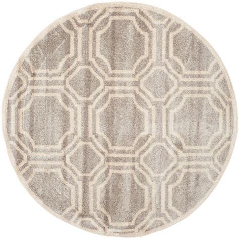 Safavieh Amherst Light Gray Ivory 5 Ft X 5 Ft Indoor 5 Foot Area Rugs