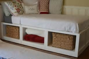 Diy Daybed Frame With Storage Diy Bed Frame With Storage Bed Storage Pinteres