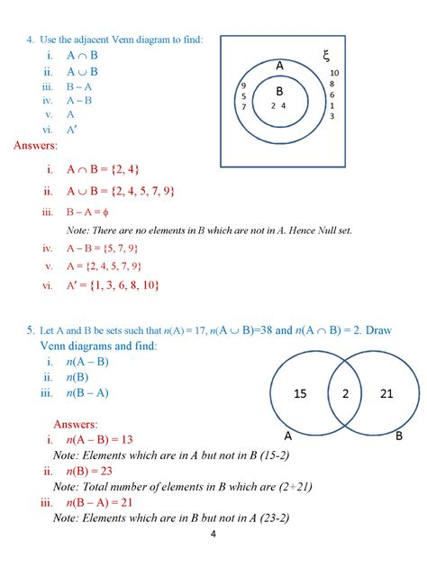 sets and venn diagrams notes difference of sets 171 icse math portal for k 12 students