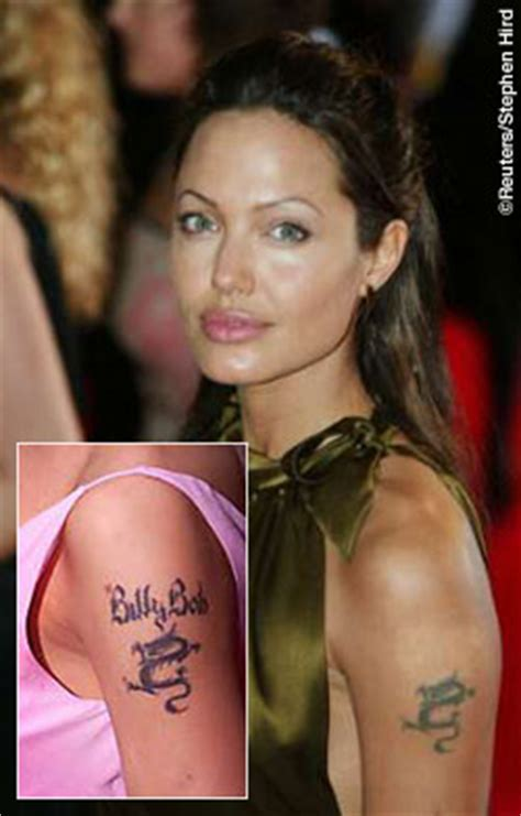 angelina jolie tattoos removed tats you who removed tattoos