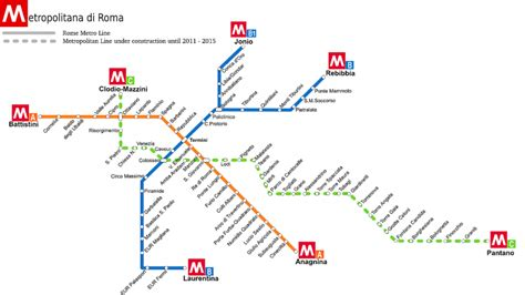 rome metro map rome metro