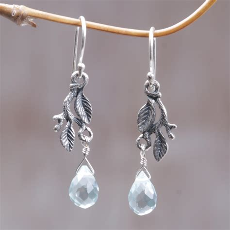 Handmade Silver Earrings Uk - unicef uk market handmade sterling silver dangle