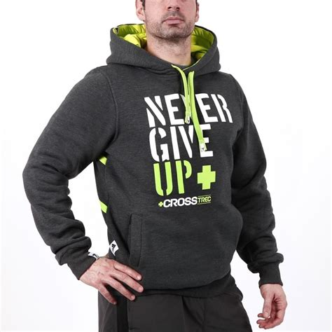 Hoodie Give Up 1 trec tw hoodie 033 never give up clothes m苹ska hoodies lazy superman