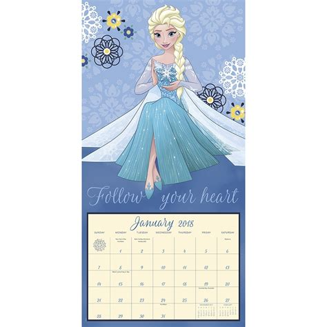 2018 disney frozen wall calendar mead disney frozen 2018 wall calendar