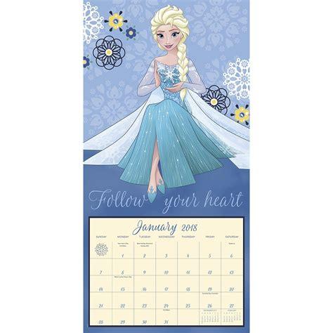 2018 disney princess wall calendar day disney frozen 2018 wall calendar