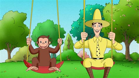 curious george swinging why do cartoon girls travel with monkeys zobop republic