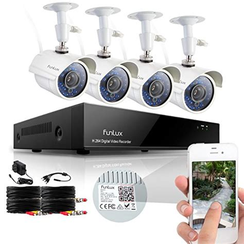funlux 8ch surveillance security system qr code