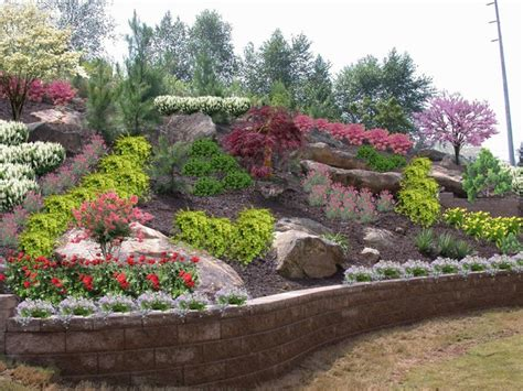 Design For Hillside Landscaping Ideas Landscaping Ideas For Front Yard Access Backyard Hillside