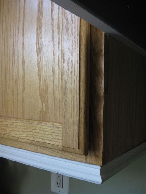 kitchen cabinet top molding molding under cabinets honey oak pinterest