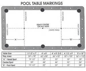 6 foot pool table dimensions