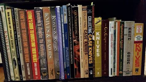 reference books at the library quot the library quot show discuss your traditional knife