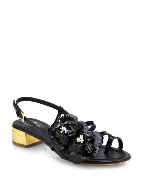 Genevieve Sandals By Kate Spade by Lyst Kate Spade New York Verbena Flower Sandals In Black