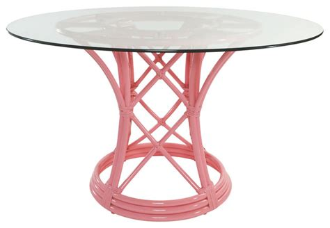 ficks reed pink flamingo dining table contemporary