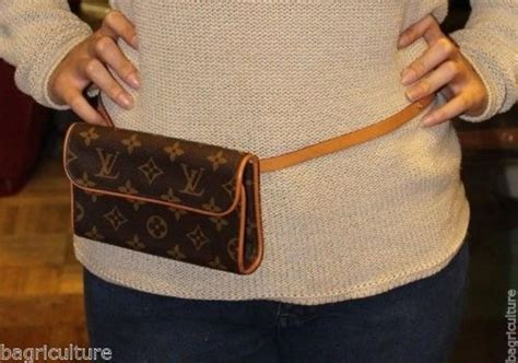 louis vuitton brown florentine fanny pack bum bag monogram