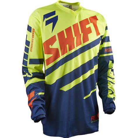 motocross jersey sale new shift mx gear assault race navy yellow xxl motocross
