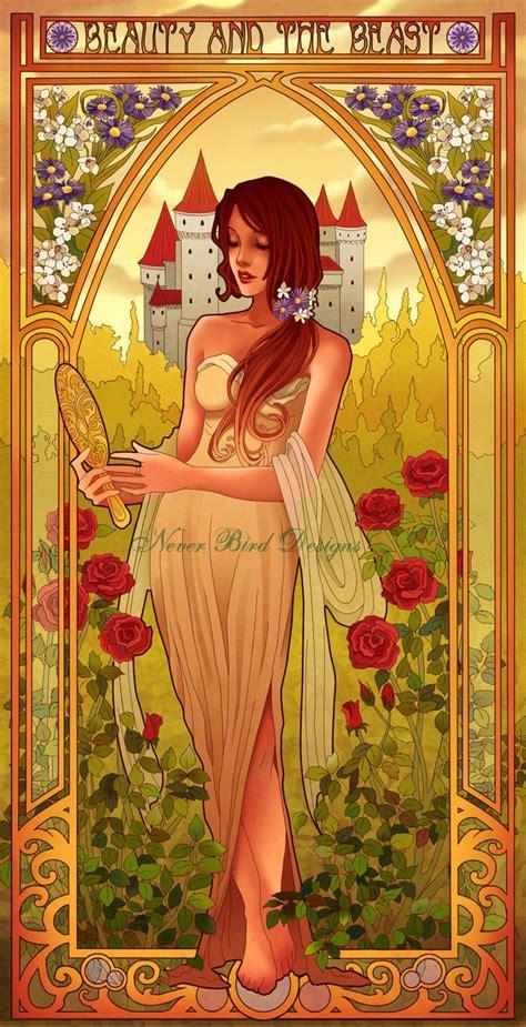 painting for disney princess disney princess in nouveau