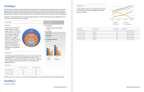 ms word business report template office templates