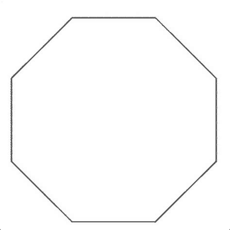 octagon template how to draw octagon shape