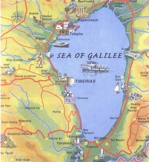 map of the sea israel map sea of galilee
