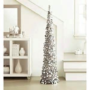 amazon com silver tinsel tree 5 ft collapsible pop up