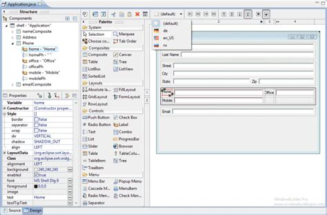 eclipse swing gui windowbuilder