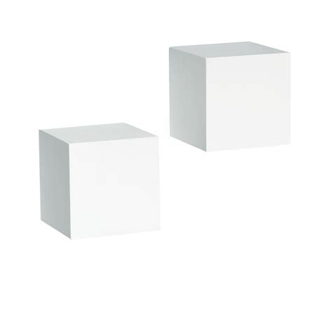 Cubes White knape vogt 5 in x 5 in floating white wall cube