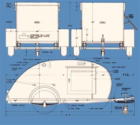 Teardrop Camper Floor Plans trailer for two teardrop trailer from 1947 mechanix