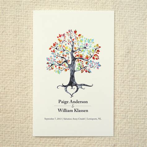 rustic tree card template 25 best ideas about order of service template on