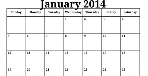 template for calendar 2014 2014 printable calendar templates