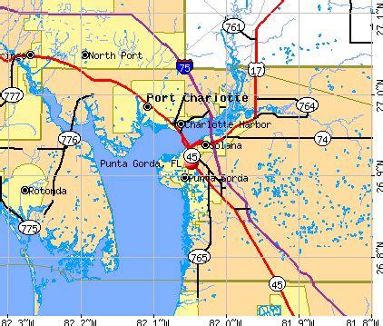 Punta Gorda Florida Map by Punta Gorda Florida Fl 33950 Profile Population Maps