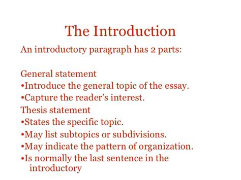 Structure Of An Essay Introduction by Essay Structure