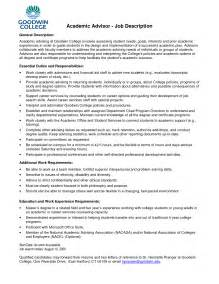 Resume Sle For Advisor Academic Advisor Resume Exles Resume Format 2017