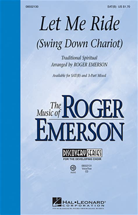 swing down chariot let me ride let me ride swing down chariot sheet music direct