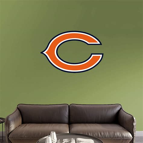 chicago bears home decor chicago bears quot c quot logo wall decal shop fathead 174 for