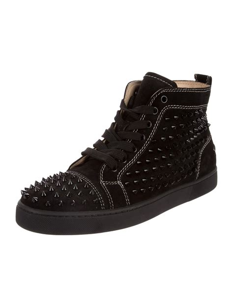 christian louboutin louis spiked sneakers shoes cht80047 the realreal
