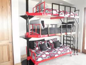 3 bunk bed contemporary 3 tierd pivoting bunk bed for the home