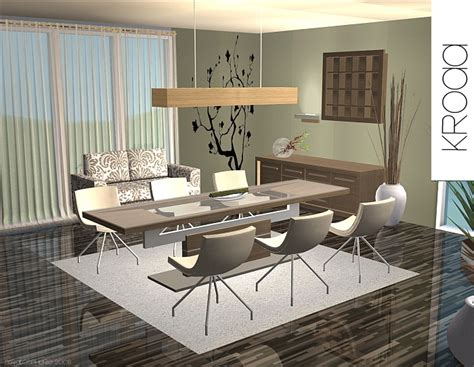 "Mod The Sims   ""kroaa"" Modern dining furniture"